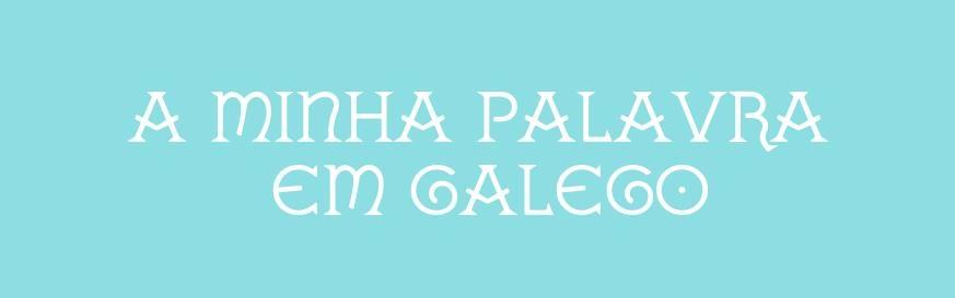 A minha palavra em galego Cover Image